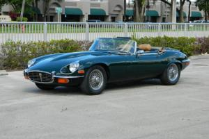 1972 Jaguar E-Type XKE V-12 ROADSTER E-TYPE BRITISH RACING GREEN Photo