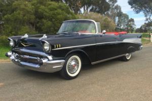 1957 CHEVROLET CONVERTIBLE BLACK V8 TWIN 4 BARREL **RARE CAR**