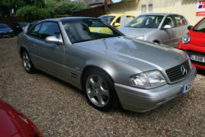 2000 MERCEDES SL280 AUTO SILVER STUNNING 82000 MILES PANORAMIC GLASS HARD TOP Photo