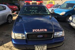 2004 FORD ,CROWN VICTORIA, POLICE CAR,  AUTO,  AMERICAN , L/H DRIVE