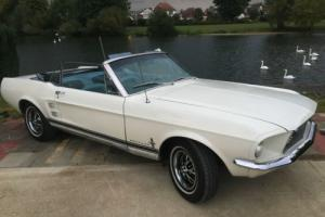 FORD MUSTANG CONVERTIBLE 1967 IN WIMBLEDON WHITE, RECENT IMPORT WITH NEW MOT,