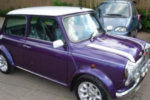 1997 ROVER MINI COOPER PURPLE WHITE
