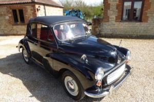 MORRIS MINOR 1000 CONVERTIBLE CAR 1967 OLDER RESTORATION  VERY SMART Photo