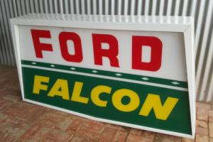 Ford Falcon Genuine Dealership Double sided neon Sign. Circa 1965. Suit XP XM GT