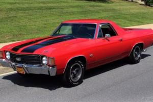1972 Chevrolet El Camino Super Rare, Documented, Matching Numbers SS454
