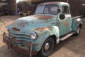 1952 Chevy halfton pickup original truck project or for V8 Hotrod Photo
