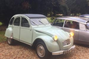 Restored early 1961 Citroen 2CV with engine upgrade