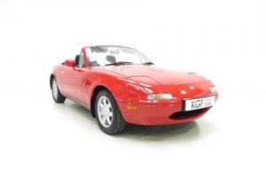 Probably the Best UK Mk1 Mazda MX5 1.8i with Just 19,202 Miles from New. Photo