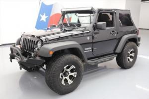 2012 Jeep Wrangler SPORT 4X4 SOFT TOP 6-SPEED LIFT