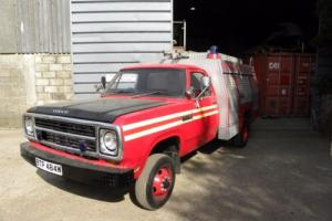 DODGE W 40 FIRE ENGINE BARN STORED LAST 16 YEARS SOLD WITH MOT