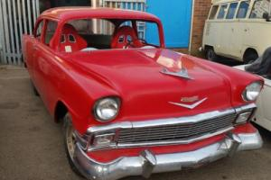 1956 chevrolet 2 door post  tri chevy / hot rod / gasser / mild resto project !