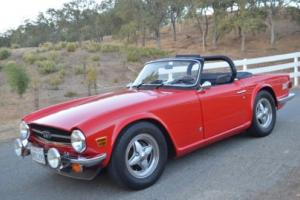 1976 Triumph TR-6 RESTORED & FACTORY HARDTOP! Photo