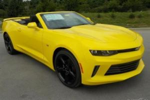"2016 Chevrolet Camaro 1LT Convertible Bright Yellow 20"" Wheels $9500 OFF"