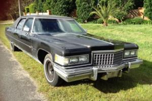 Cadillac Fleetwood Series 75 Limo 1 of 834 made 1976 Armour plated bullet proof Photo