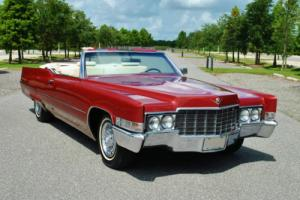 1969 Cadillac DeVille Convertible 472 V8 Original Colors! Super Clean! Photo