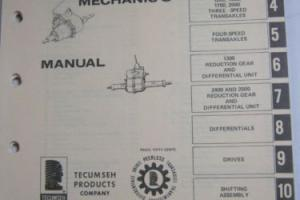 TECUMSEH MECHANICS MANUAL PEERLESS TRANSMISSION TRANSAXLE DIFFERENTIAL   1977