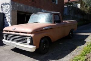 1961 ford f100 custom cab pickup truck ute hotrod ratrod classic rat rod project