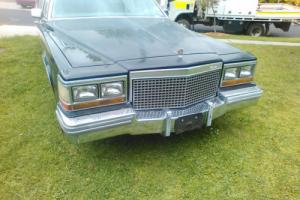 1981 Black Cadillac 6 Door Limousine Left hand drive Photo