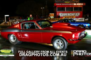 1968 FORD MUSTANG FASTBACK. DRAG RACE CAR. HOT ROD.