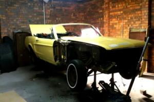 1968 MUSTANG CONVERTIBLE PROJECT DREAMED OF OWNING A MUSTANG HERE IS YOUR CHANCE