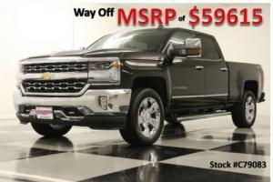 2017 Chevrolet Silverado 1500 MSRP$59615 4X4 LTZ GPS 6.2L Long Bed Black Crew 4WD