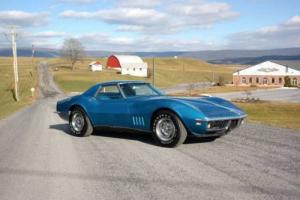 1968 Chevrolet Corvette 2 Top #s Matching 327ci/350hp Blue/Blue