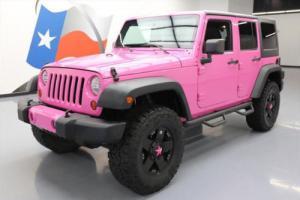2012 Jeep Wrangler UNLTD SPORT 4X4 LIFT CUSTOM PINK