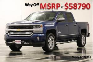 2017 Chevrolet Silverado 1500 MSRP$58790 4X4 High Country DVD Sunroof Ocean Blue