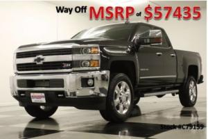 2017 Chevrolet Silverado 2500 HD MSRP$57435 4X4 LTZ GPS Z71 Black Double 4WD
