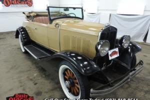 1930 Chrysler Roadster Six Runs Drives Body Inter VGood I6 3spd