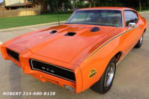 1969 Pontiac GTO REAL WITH PHS REPORT TRIB JUDGE V8 455 NO RUST!!