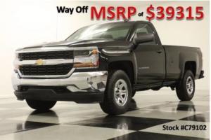 2017 Chevrolet Silverado 1500 MSRP$39315 4X4 LS Camera 5.3L V8 Black Single 4WD