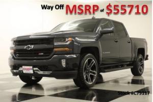 2017 Chevrolet Silverado 1500 MSRP$55710 4X4 Z71 2LT GPS Graphite Crew 22 Rims 4WD