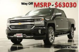 2017 Chevrolet Silverado 1500 MSRP$63030 4X4 High Country Sunroof GPS Black Crew 4WD