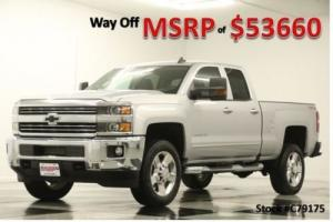 2017 Chevrolet Silverado 2500 HD MSRP$53660 4WD LT GPS 6.0L Silver Double 4X4 Photo