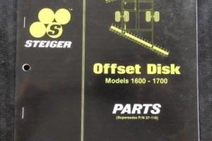 STEIGER BEARCAT COUGAR PANTHER TIGER TRACTOR 1600 1700 OFFSET DISK PARTS MANUAL