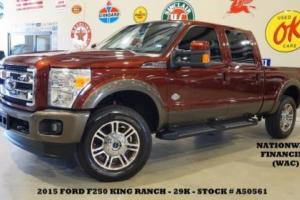 2015 Ford F-250 King Ranch 4X4 DIESEL,ROOF,NAV,HTD/COOL LTH,29K!