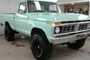 "1977 Ford F-150 Short Bed 4x4 4-speed PS PB Lift 35"" BFG Stereo OG"