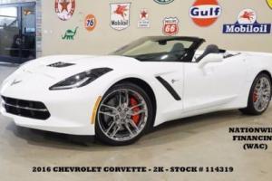 2016 Chevrolet Corvette Z51 3LT HUD,NAV,HTD/COOL LTH,CHROME WHLS,2K!