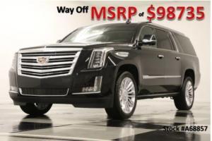 2016 Cadillac Escalade MSRP$98735 4X4 ESV Platinum 4 DVD Sunroof GPS Black Raven 4WD