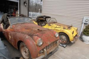 1960 Triumph TR3 2 cars one price Photo