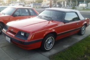1986 Ford Mustang WHITE CONVERTIBLE TOP - TIME CAPSULE CAR Photo