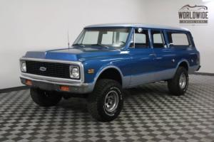 1972 Chevrolet Suburban RESTORED 4X4! $5K AC SYSTEM. V8. AUTO! Photo