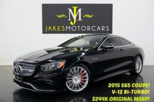 2015 Mercedes-Benz S-Class S65 AMG V12 BI-TURBO Coupe ($244K MSRP)....($85,000 OFF NEW!)