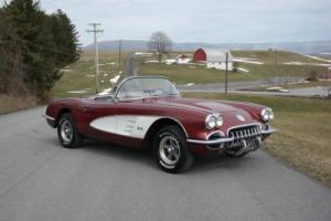 1958 Chevrolet Corvette 1958 Corvette Convertible *Burgandy/Black*Hardtop