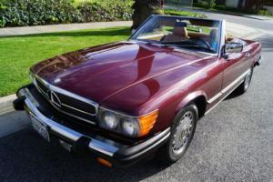 1988 Mercedes-Benz SL-Class 560SL CONVERTIBLE IN RARE STRIKING COLOR COMBO!