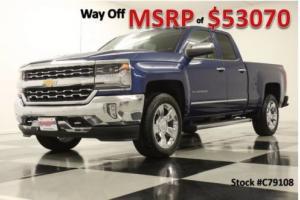 2017 Chevrolet Silverado 1500 MSRP$53070 4X4 LTZ GPS Blue 0% 60 MOs Double 4WD