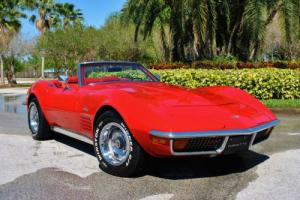 1972 Chevrolet Corvette Convertible Numbers Matching 350 2-Tops PS PB A/C Photo