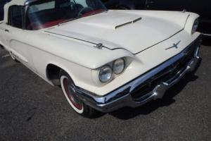 1960 THUNDERBIRD CONVERTIBLE SQUARE BIRD AIRCONDITIONING LEATHER FULL OPTIONS