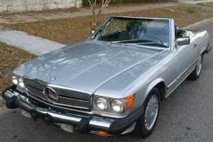 1986 Mercedes-Benz SL-Class 560SL in 735 Astral-Silver* original factory paint Photo
